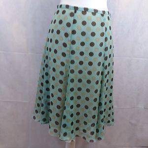 Worthington,  polka dot skirt